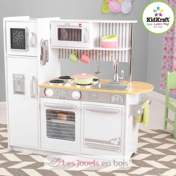 kidkraft, uptown white kitchen wooden girl and boy kidkraft 53335