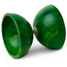 Green marbled diabolo - metal axle - d. 100mm